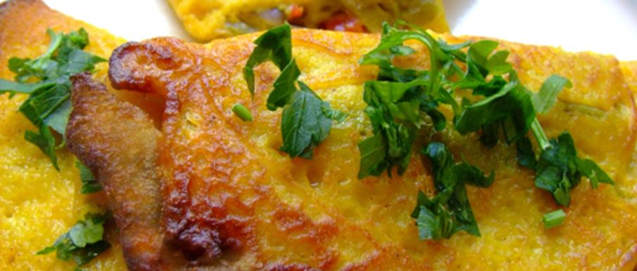 Omelette de verduras vegano
